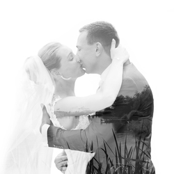 double exposer bruidspaar a&a