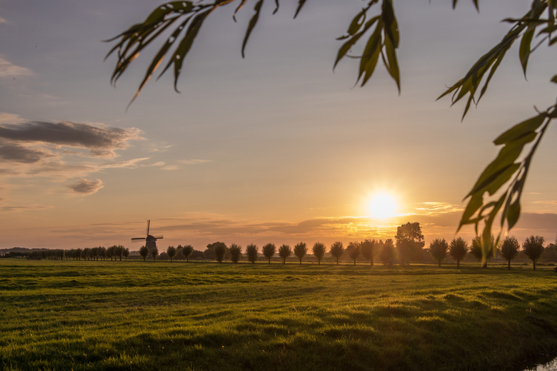 lage hoek by sunset