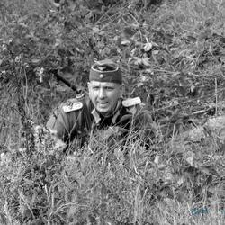 Duitse soldaat tijdens Santa Fe in actie