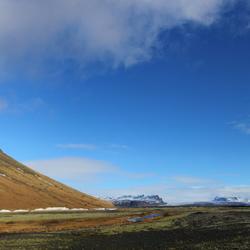 Ijsland berg panorama