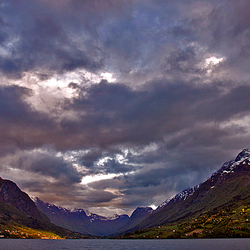 Evening clouds in norway