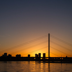 Zonsondergang in Düsseldorf