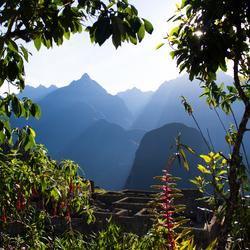 Het uitzicht op Machu Picchu