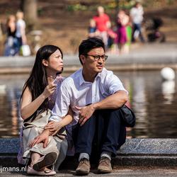 Genieten van de zondag in  Central Park New York