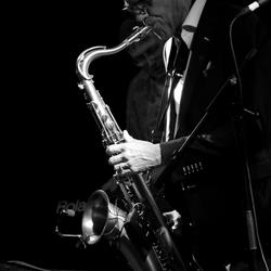 Saxofoon speler voor Assadata Dafora