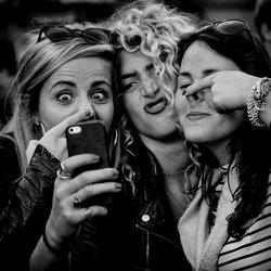 Three times a selfie