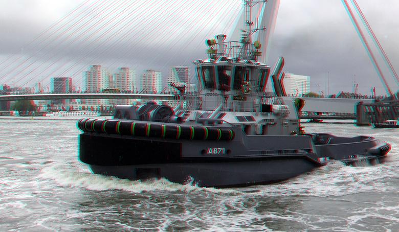 Wereldhavendagen 2019 Rotterdam 3D - Wereldhavendagen 2019 Rotterdam 3D<br /> anaglyph stereo red/cyan