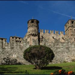 struik met kasteel