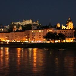 Burg Hoch Salzburg bei abend 1