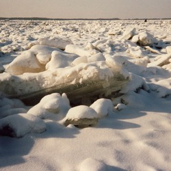 Amur rivier bevroren