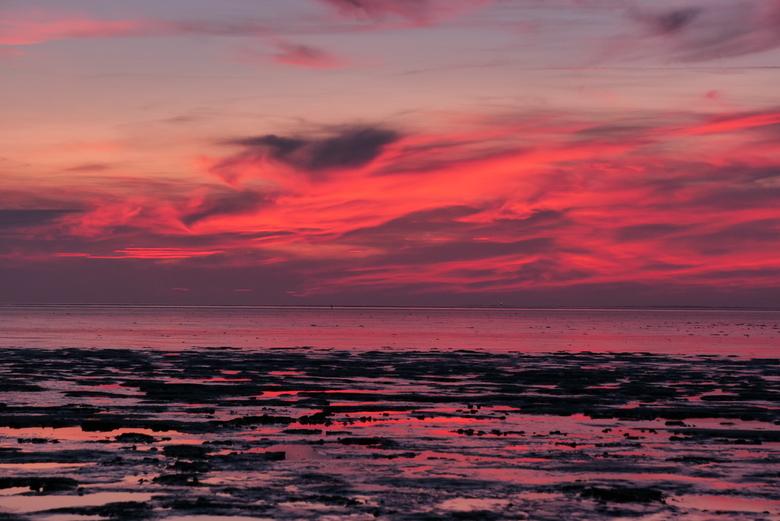 Zonsondergang - Kleur op het wad