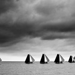 Skûtsesilen op het IJsselmeer
