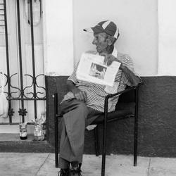 Oude man Santiago de Cuba
