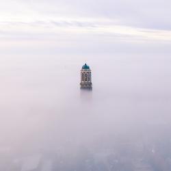 Zwolle in de mist