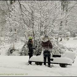 Nog ff genietend van de sneeuw.