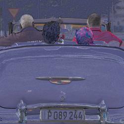 Oldtimer cabrio Havanna Cuba (bewerkt)