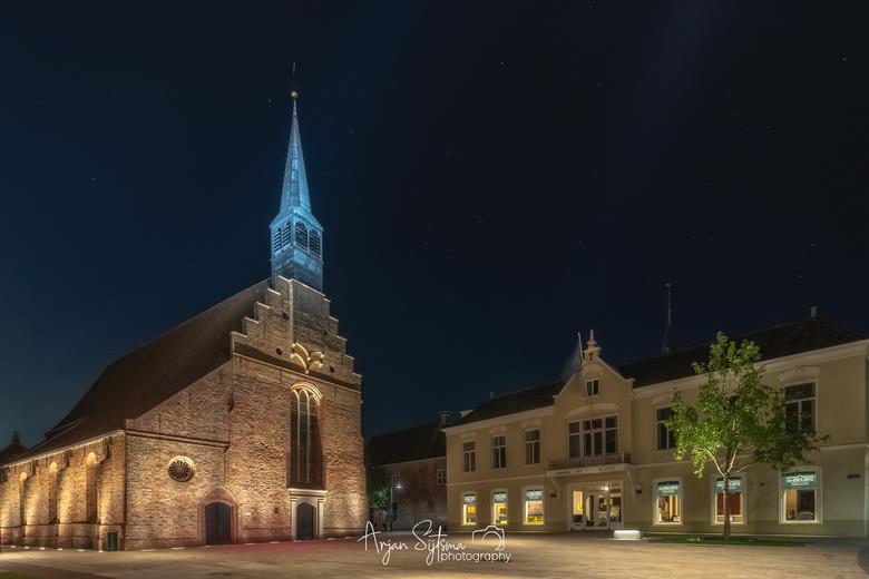 Oud Dokkum in het blauw -