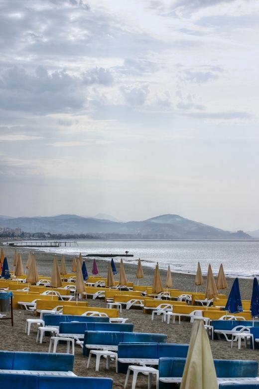 lang vergeten vakantie - een bewolkte vakantiedag in Turkije