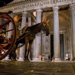 Paardenkracht bij het Pantheon