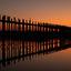 U-Bein brug zonsopkomst