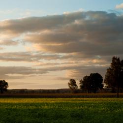 Landschaps aquarel