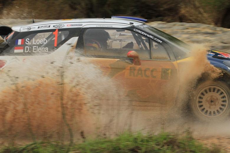 Splash!!! - WRC Rally Spain-Catalunya 2012 <br /> 9th time World Champion Sebastian Loeb going through a watersplash!
