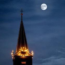 Volle maan tijdens Kerstnacht