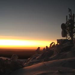 zonsondergang commnicatie toren