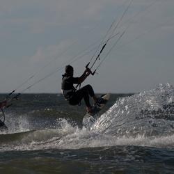 Kitesurfers in Scheveningen
