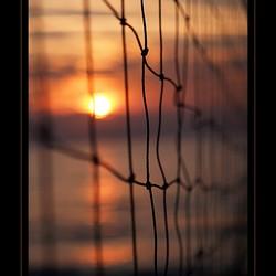 Sunset Beachvolleybalnet