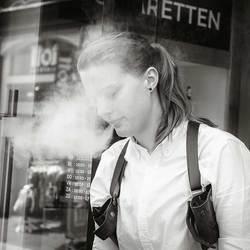 Rook van E-sigaret