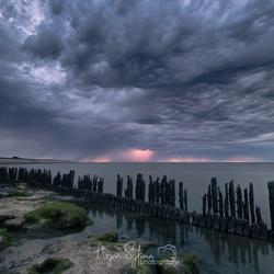 Onweer boven het Wad