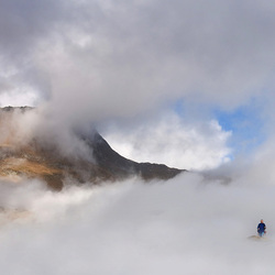 walking on clouds