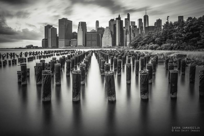 Old Pier One - Old pier One - Brooklyn park, Manhattan modern architecture skyline, Brooklyn pear one, Manhattan New York city