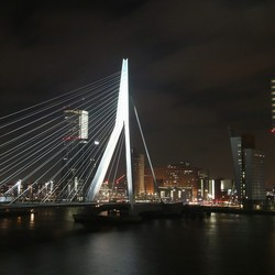Erasmus Bridge view at Night