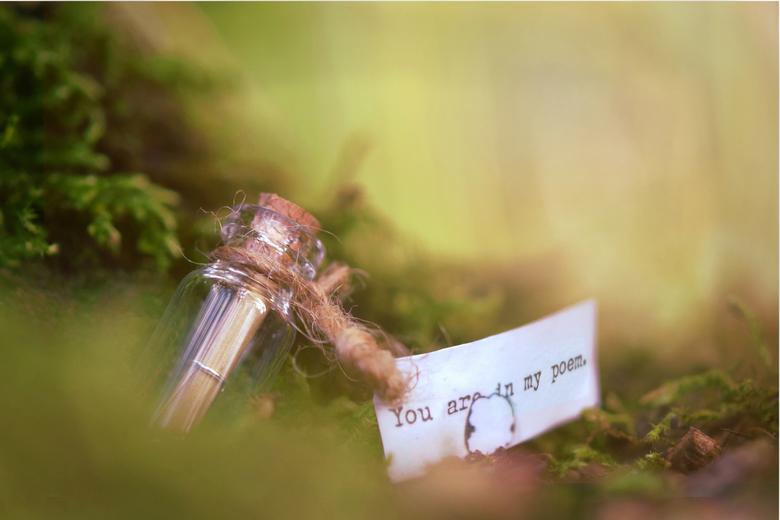 you are in my poem - flesje, briefje, ... bij http://www.inpakken-en-uitdelen.com/