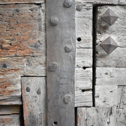 Close up houten deur