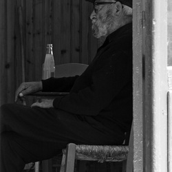 Oude Griekse man op Kreta