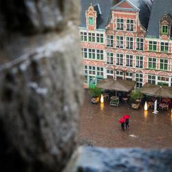 Een regenachtige dag in Gent