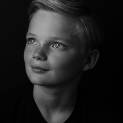 Zwart wit kinderportret