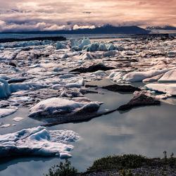 Alaska Knik glacier Wintergloed