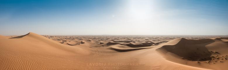 Woestijn Dubai - De woestijn nabij Dubai
