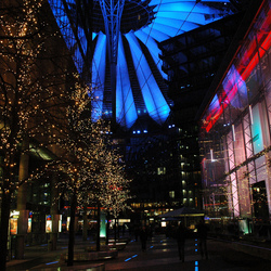 Sony Centre by night