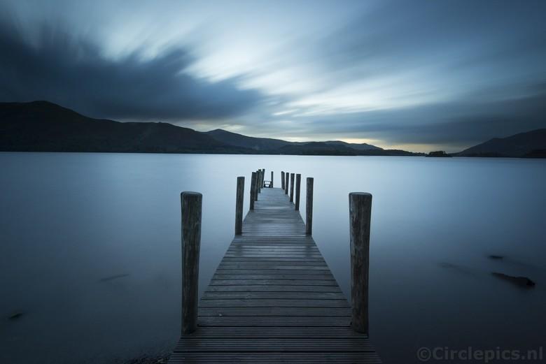 Blauwe uurtje - Derwent Water in het Engelse Lake District, een week of twee geleden na (een helaas weinig spectaculaire) zonsondergang. Belichtingsti