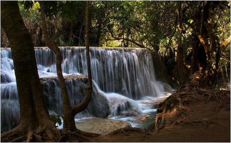 kuang si waterval - experiment met lange sluitertijd<br /> deze waterval ligt ca. 30 km ten zuiden van Luang Prabang, Laos