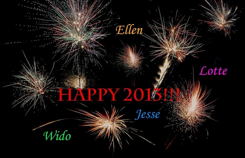 Happy 2013 - Happy 2013 Vuurwerk probeersel