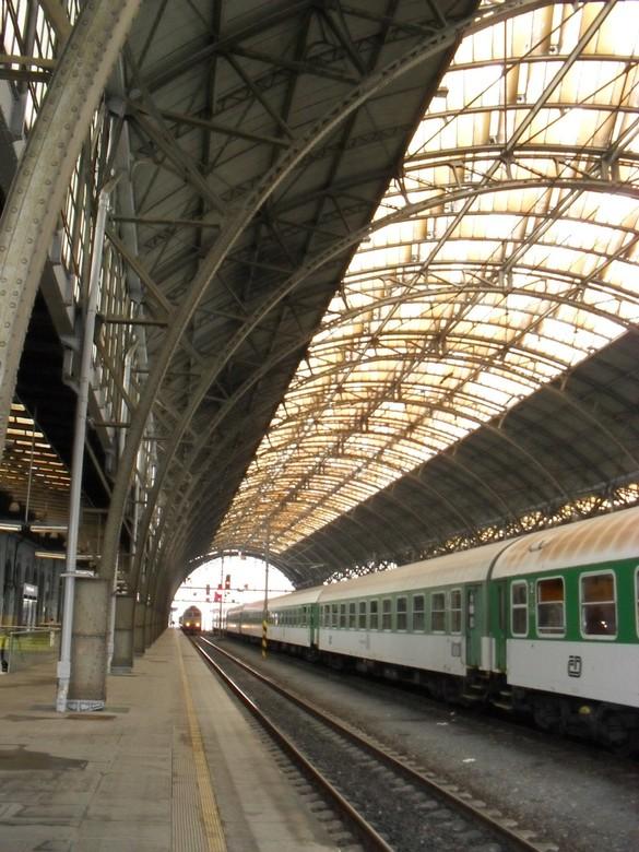Station Praag - Het mooie oude station van Praag.