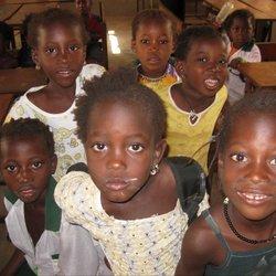 Op school in Gambia