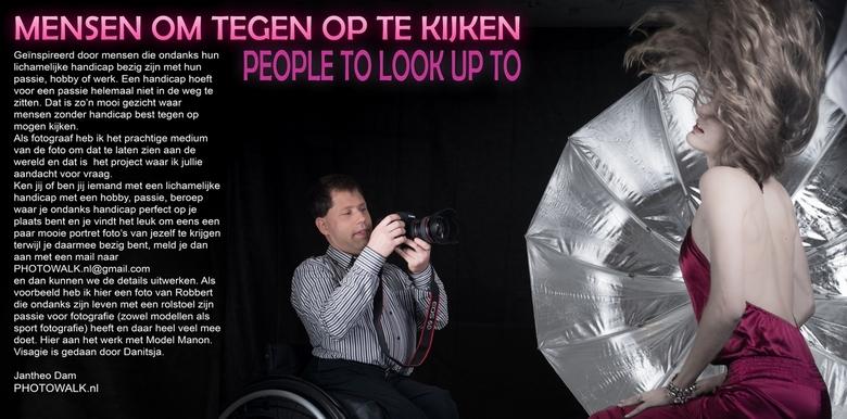 """MENSEN OM TEGEN OP TE KIJKEN foto project. - Voor mijn project """"MENSEN OM TEGEN OP TE KIJKEN"""" ben ik op zoek naar mensen met een zichtbare h"""