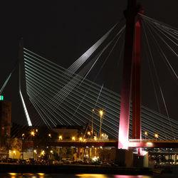 Rotterdam bruggen bij nacht